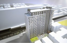 Aerial rendering of 1159 River Avenue - Urban Quotient