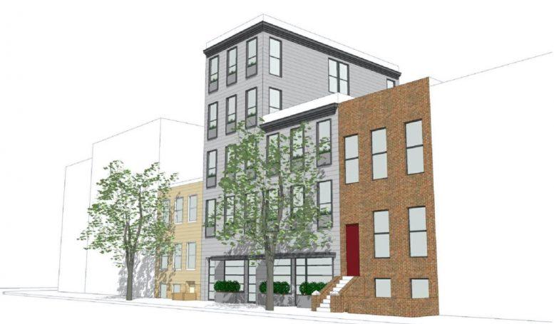 Rendering of proposed buidling at 135-137 Bedford Avenue in Williamsburg, Brooklyn