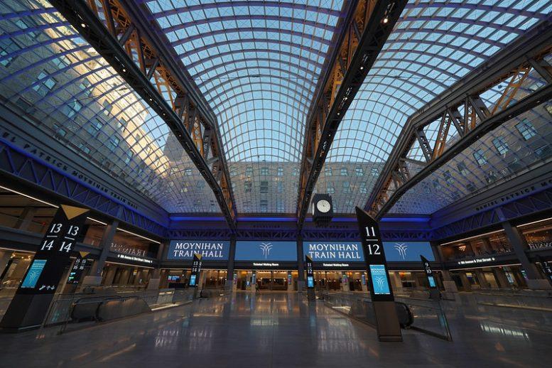 Interior view of Moynihan Train Hall