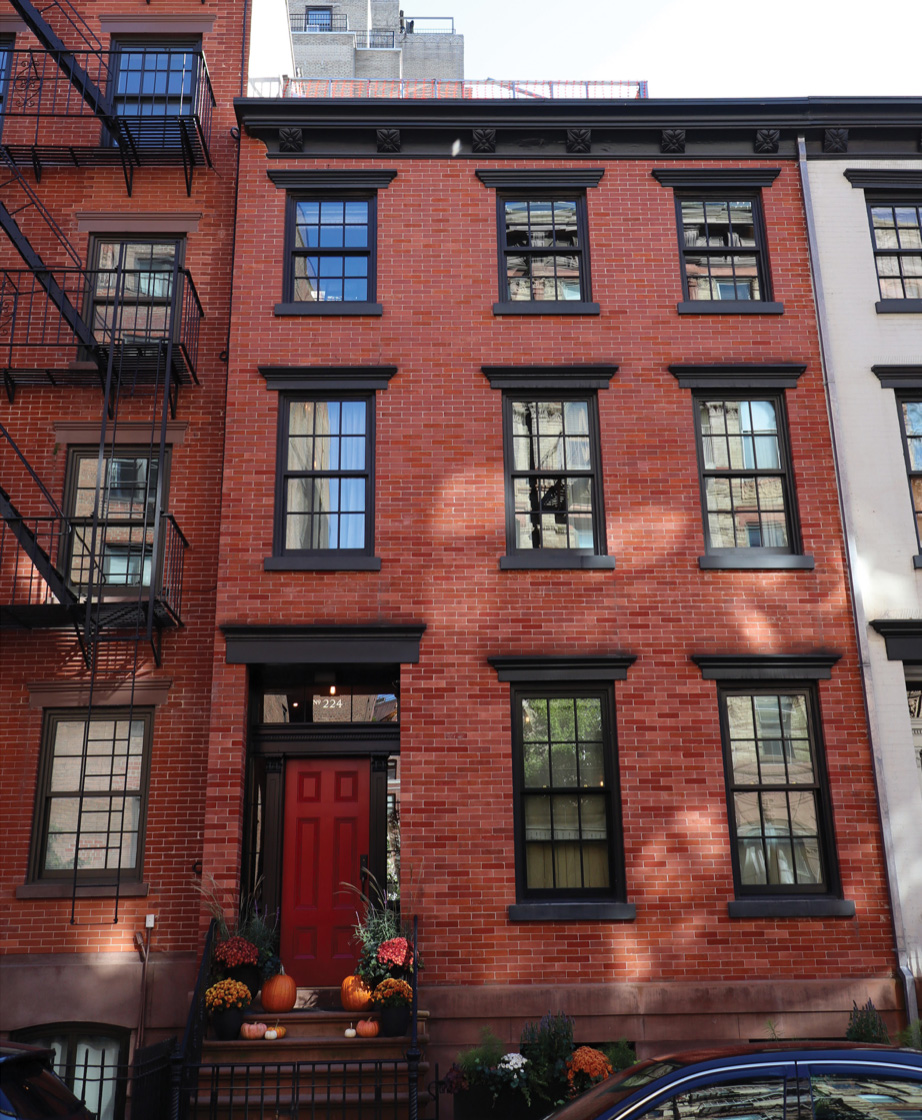 Existing townhouse at 224 West 10th Street - DCP Architecture