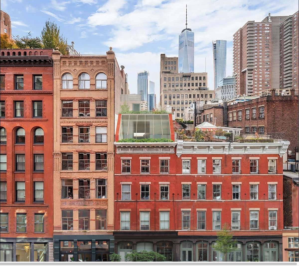 Rendering of 13 Harrison Street rooftop addition - Bialosky + Partners Architects