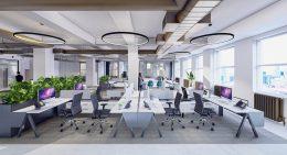 Rendering of 1501 Broadway office spaces - MKDA