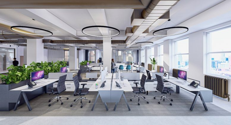 Rendering of 1501 Broadway office spaces - MKDA
