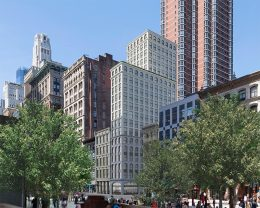 Rendering of 315-317 Broadway looking south - Morris Adjmi Architects