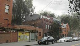 Revised renderings of penthouse addition at 405 Vanderbilt Avenue - VonDalwig Architecture