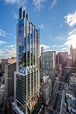 Exterior View of Construction at 425 Park Avenue - Photo by Alan Schindler