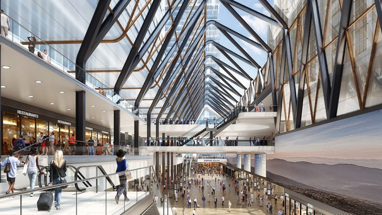 Rendering of the new Penn Station - Office of Governor Andrew M Cuomo