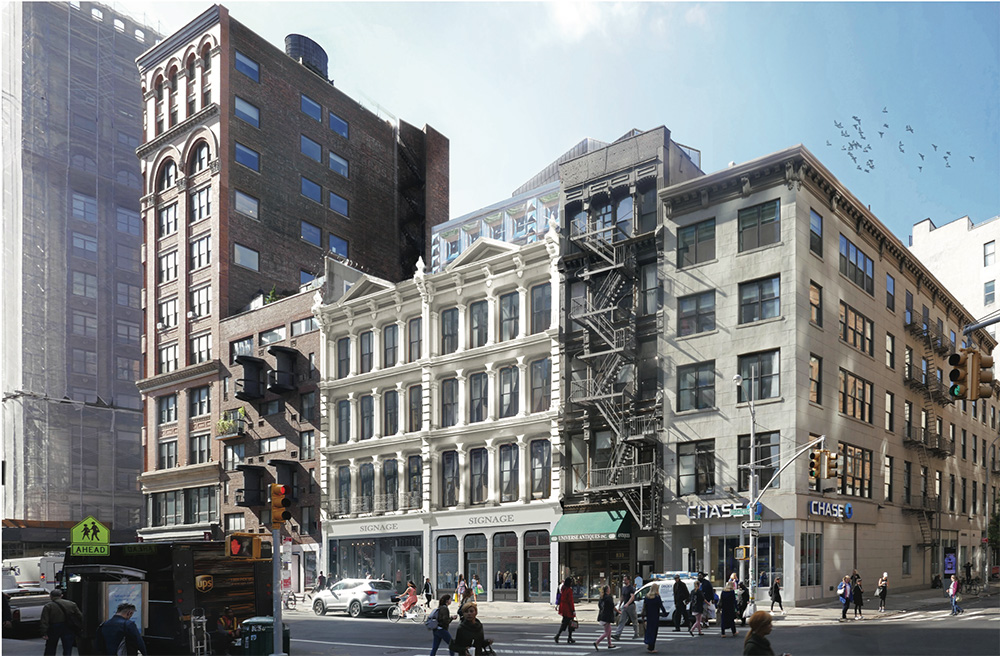 Revised rendering of 827-831 Broadway - DXA Studio