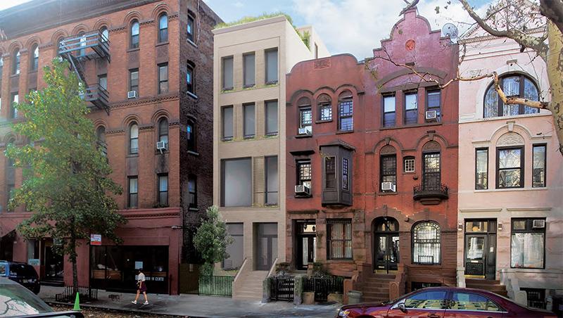 Updated rendering of 110 West 88th Street - DXA Studio