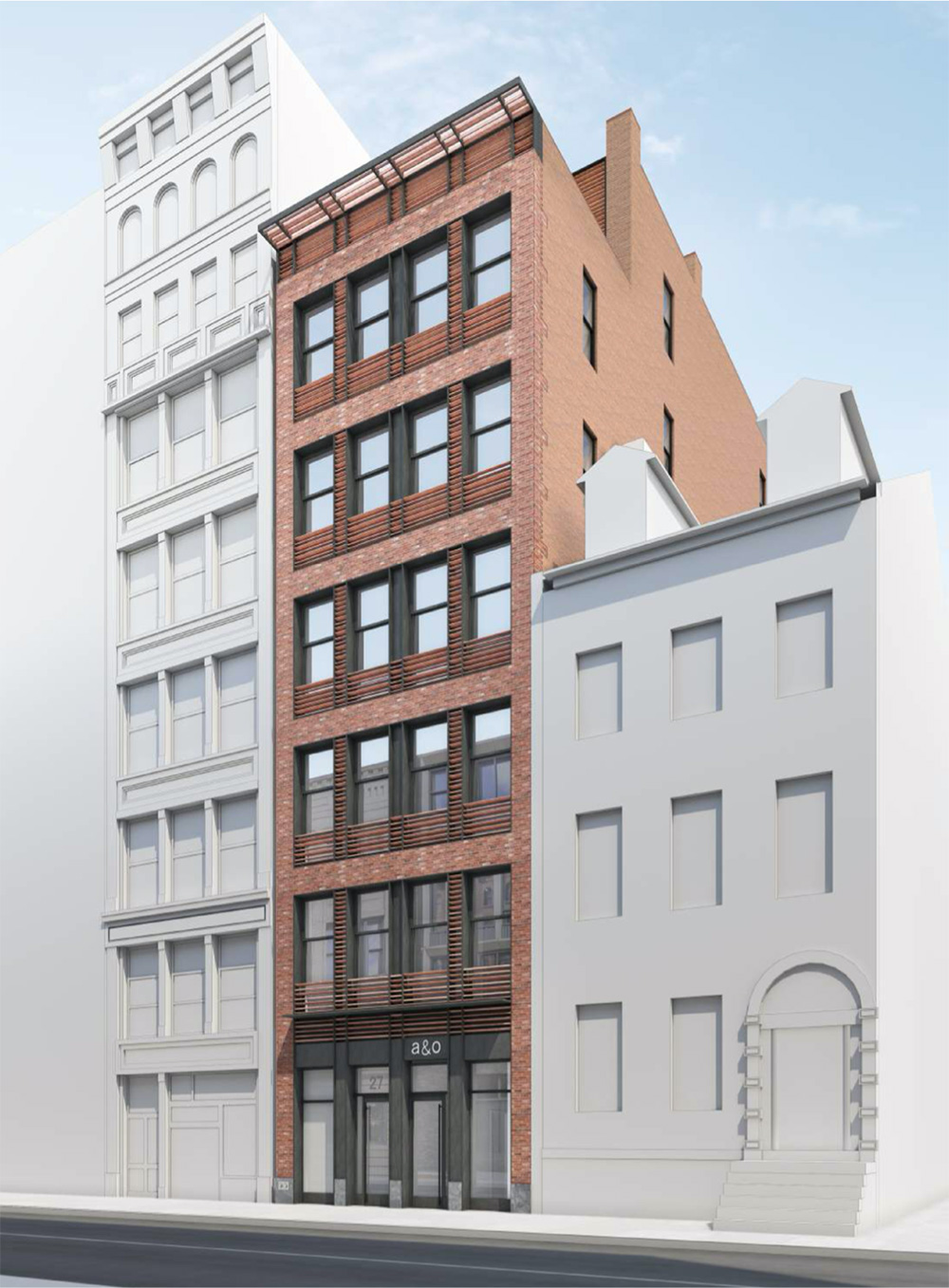 Updated rendering of 27 East 4th Street - BKSK Architects
