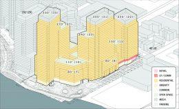Preliminary rendering of Halletts North - Studio V Architecture