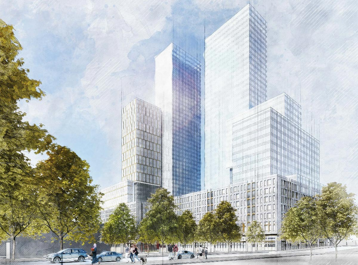 Rendering of 960 Franklin Avenue - Hill West Architects