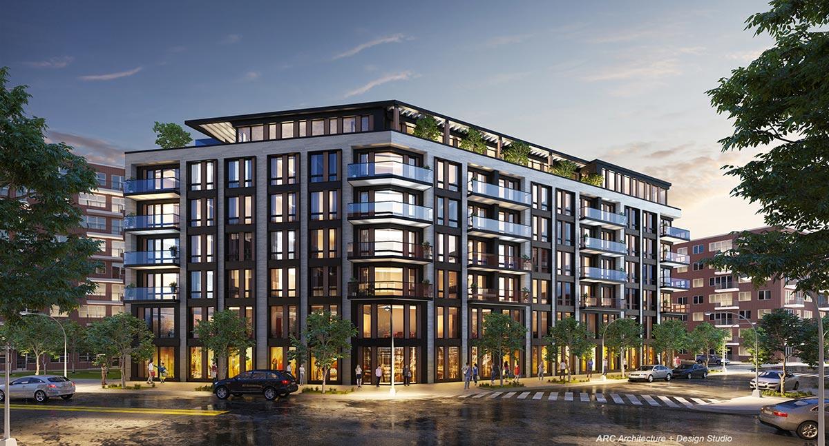 Rendering of 71-82 Parsons Blvd.- ARC Architecture + Design Studio