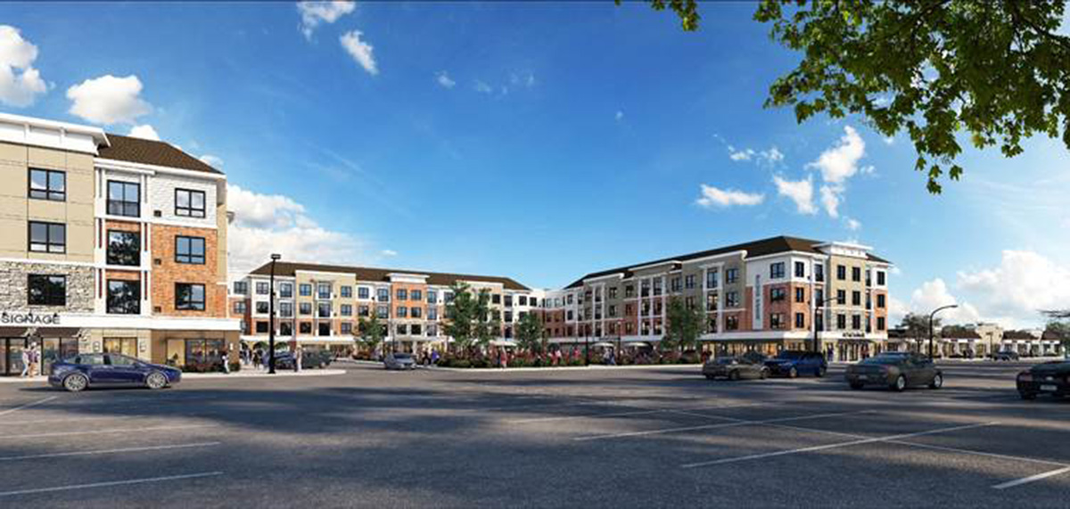 Rendering of Yorktown Green - Oster Properties