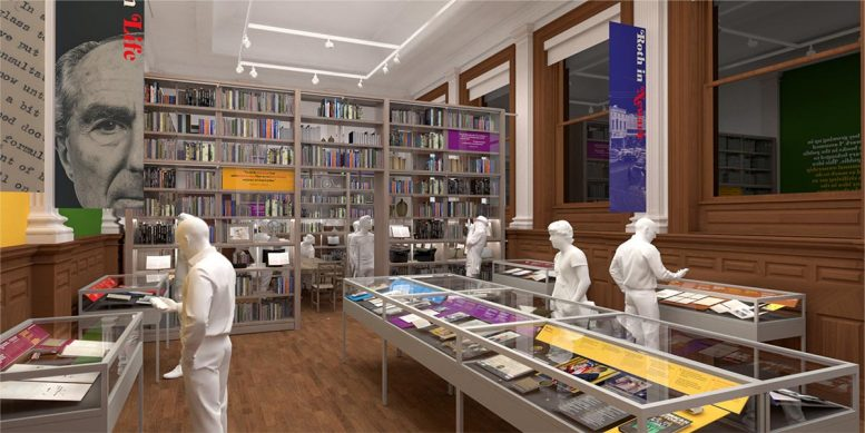 Rendering of the new Philip Roth Personal Library (Credit - C&G Partners)
