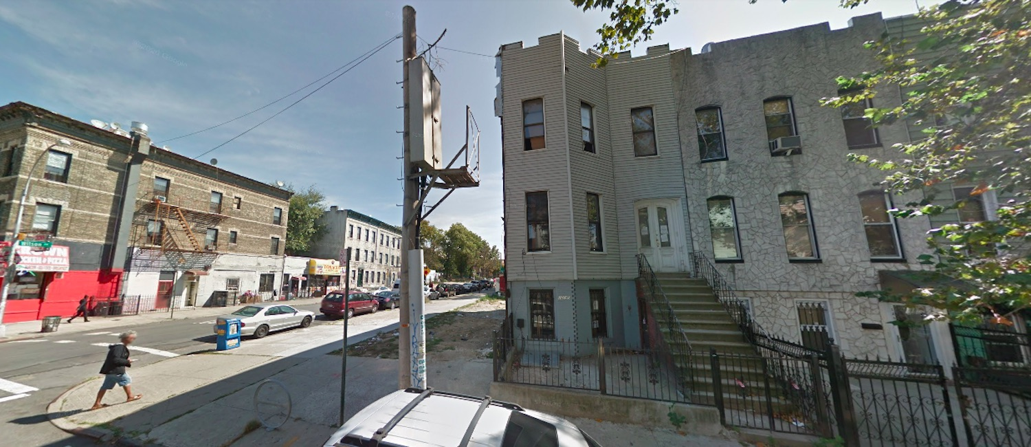 1238 Hancock Street in Bushwick, Brooklyn via Google Maps