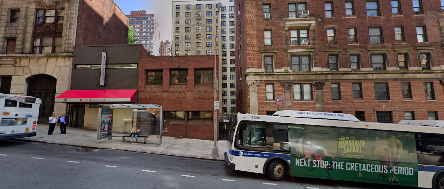 270 West 96th Street on the Upper West Side, courtesy of Google Maps