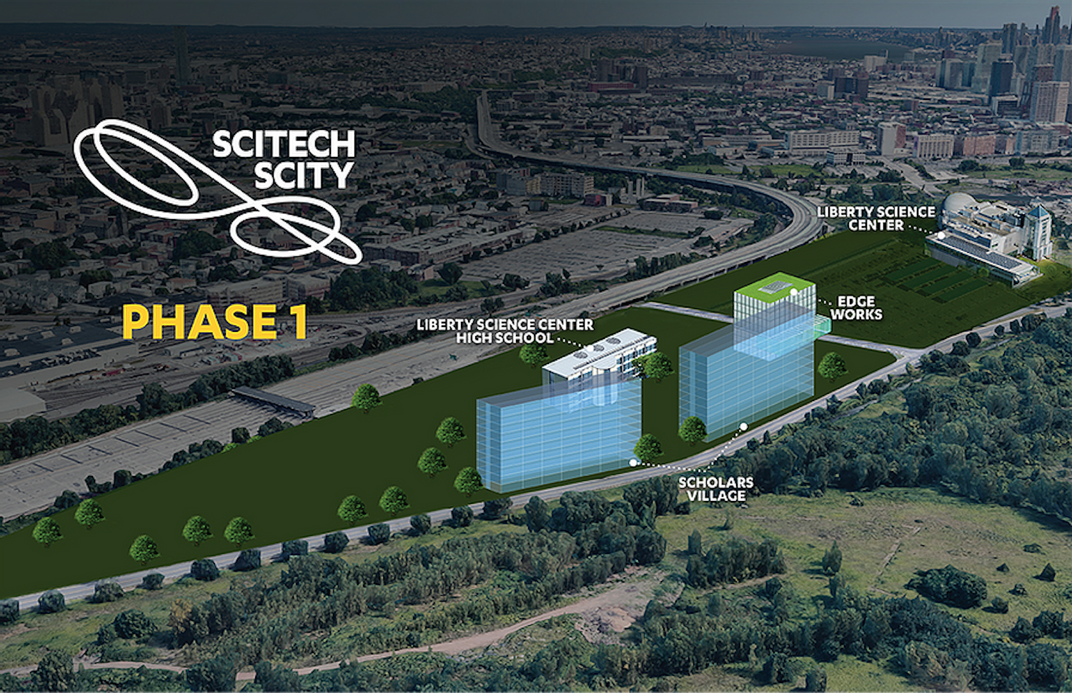 Phase One of SciTech Scity in Jersey City. All images courtesy of SciTech Scity.