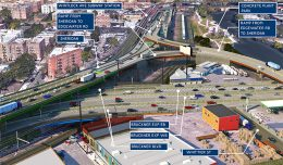 Aerial view (looking North) of the Hunts Point Access Improvement Project - NYS Department of Transportation