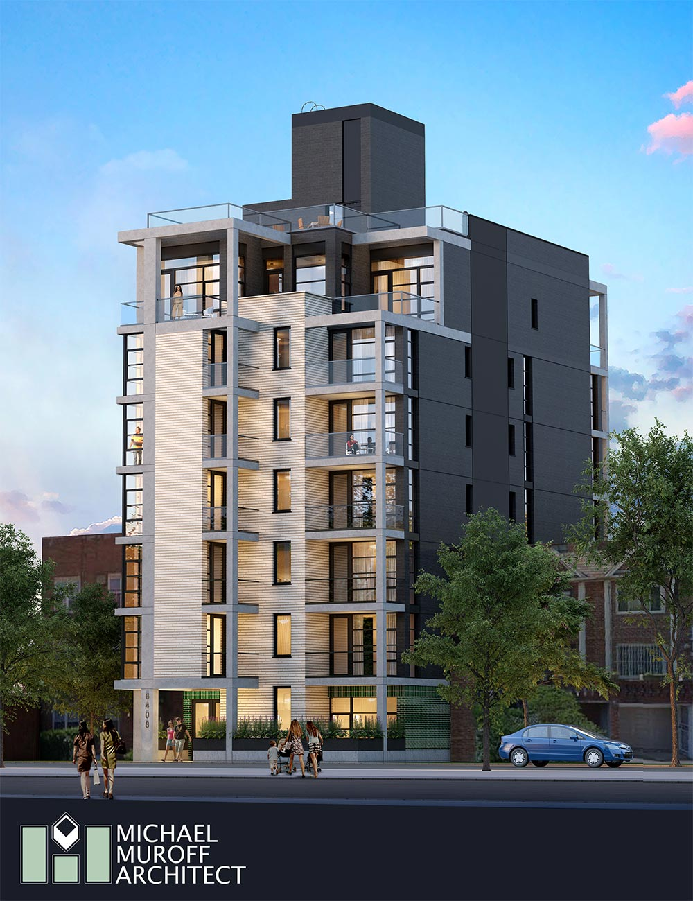 Rendering of 64-08 Wetherole Street - Michael Muroff Architect