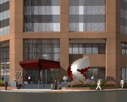 Rendering of Fragments of Something Bigger at 50 Main Street - Georgi Minchev; Ginsburg Development Companies (GDC)
