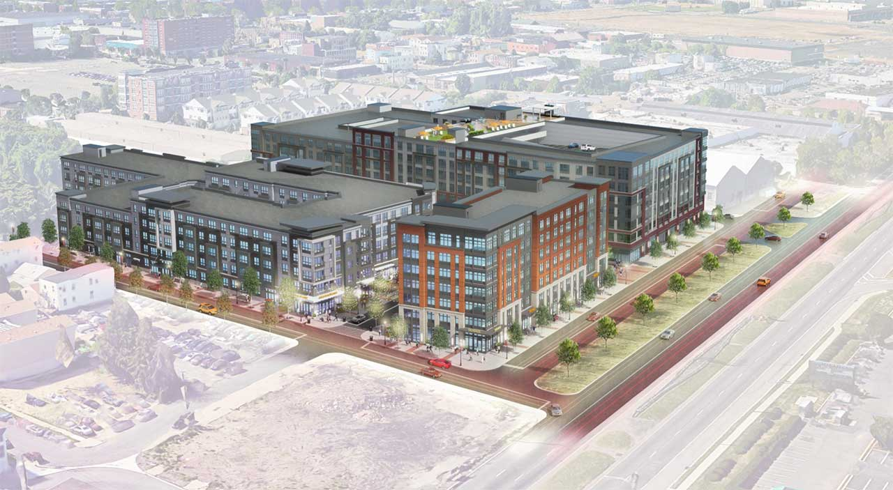 Rendering of The Agnes - Courtesy of View of residential spaces at The Agnes - Courtesy of Fields Grade
