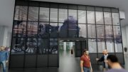 Rendering of LED media glass wall in the historic Tin Building - ANC; Howard Hughes Corporation