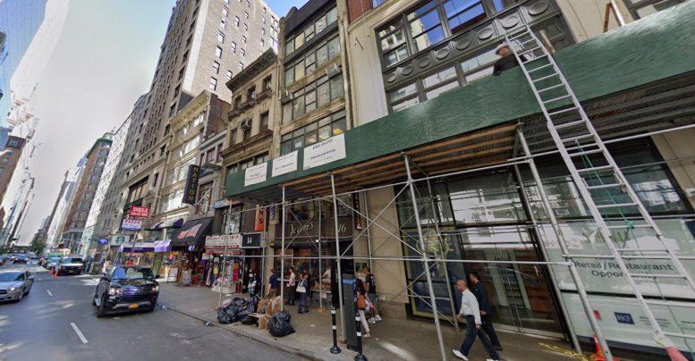 8-16 West 45th Street in Midtown, Manhattan via Google Maps