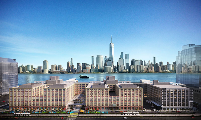 Aerial rendering of Harborside buildings 1, 2, and 3 - Photo courtesy of Mack-Cali