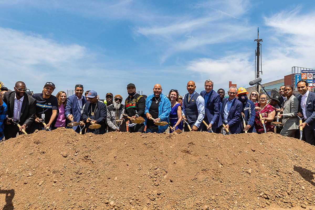 Ground breaking ceremony at Bronx Point - Photo courtesy of Sylvester Zawadzki