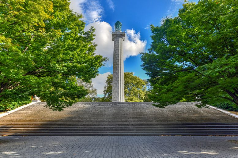 View of the Prison Ship Martyrs' Monument in Fort Greene Park - New York Parks Department