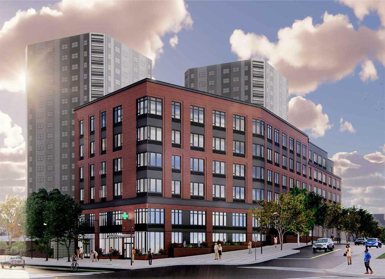 New Georgia King Village development at 4-70 Littleton Avenue in Newark. Courtesy of Inglese Architecture + Engineering.
