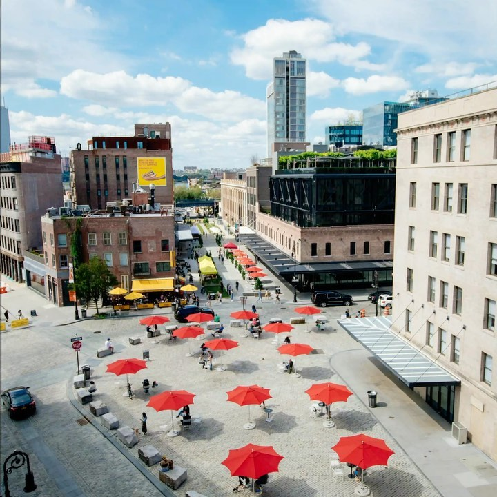 View of Gansevoort Plaza where some of the L.E.A.F. flower festival will take shape - Photo courtesy of L.E.A.F.