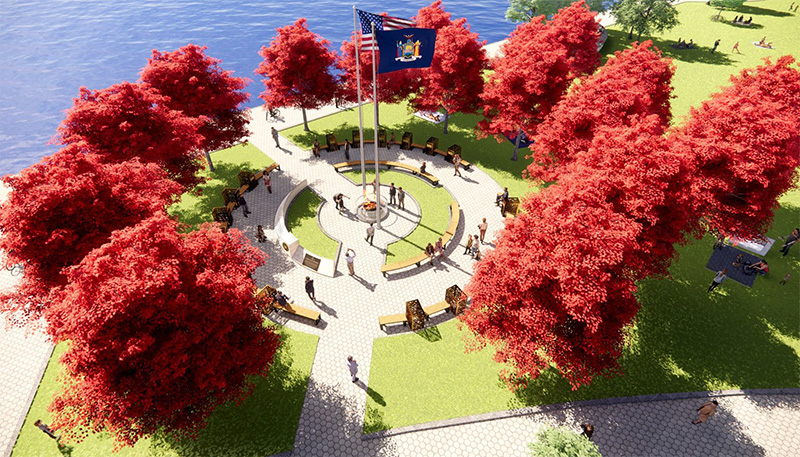 Rendering of 'Circle of Heroes' Essential Workers Monument - Courtesy of Governor Andrew Cuomo's office