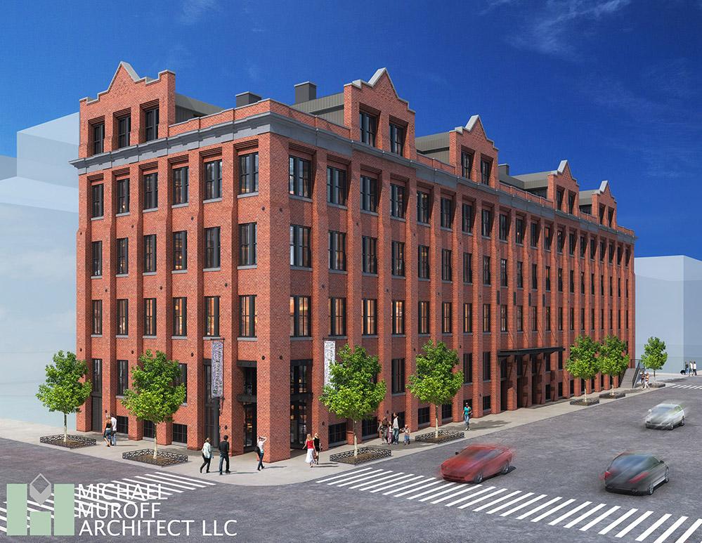 Rendering of 28-46 Roebling Street - Michael Muroff Architects