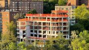 Topped-out view of 'The Henry' at 2395 Palisade Avenue - Courtesy of Timber Equities