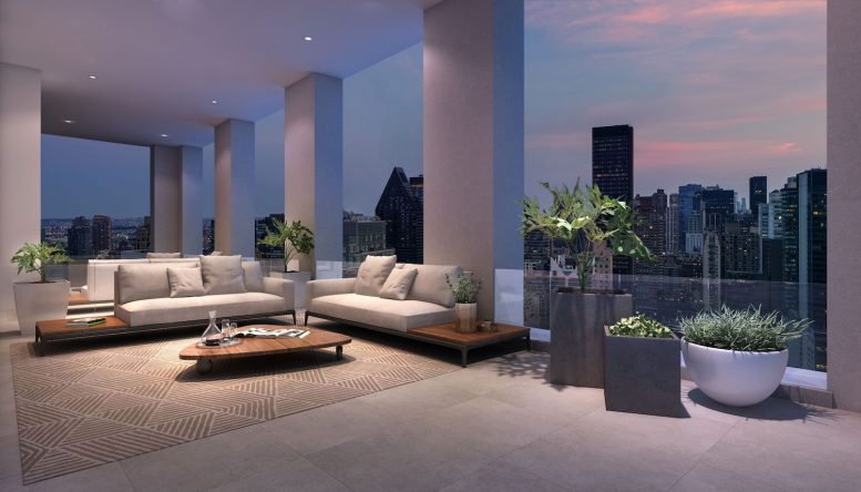 Rooftop terrace at 232 East 54th Street