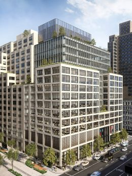 Updated rendering of 555 Greenwich Street - COOKFOX Architects