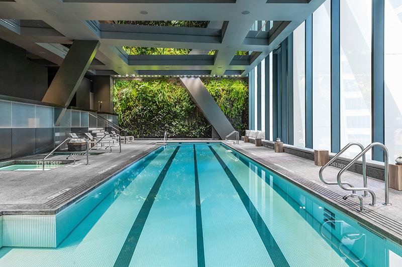 Indoor pool at 53W53 - Photo by Evan Joseph