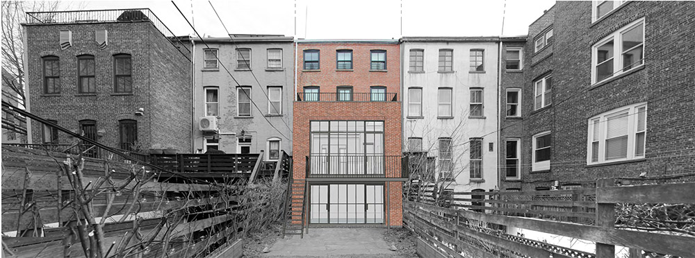 View of proposed rear extension at 122 Gates Avenue