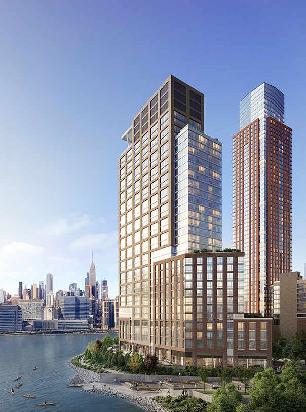Rendering of Gotham Point South Tower - Courtesy of VUW Studio