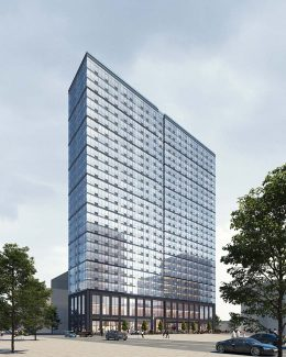 Updated rendering of 618 Pavonia - C3D Architecture