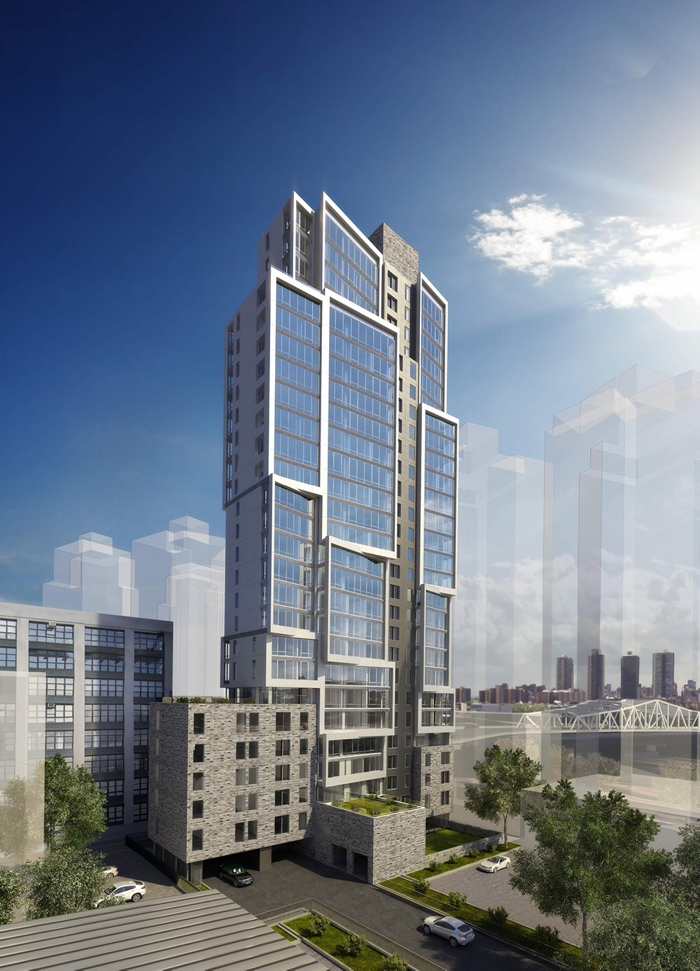 Rendering of 2413 Third Avenue - Courtesy of RXR Realty